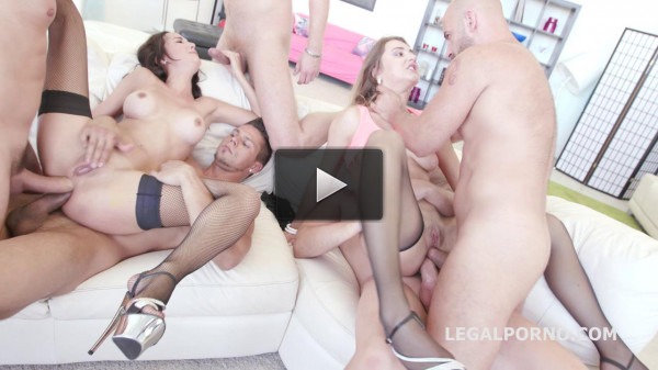 Double DAP Gangbang With Squirt & Mouth Cumming