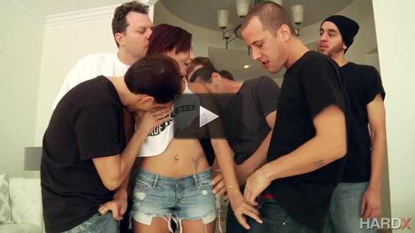 Cute Girl Gets Gang Banged And Facialized (720)