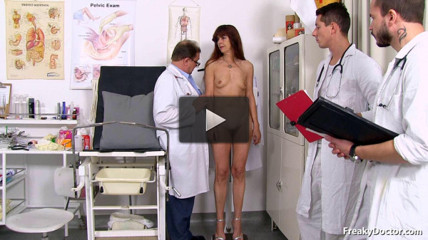 Lada (60 years old lady gyno exam)