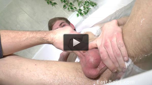 Eastboys — Mark Blom Big Dick Handjob in the bathroom