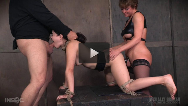 Yhivi Tied to Box and Fucked From Both Ends By Couple! (2016)