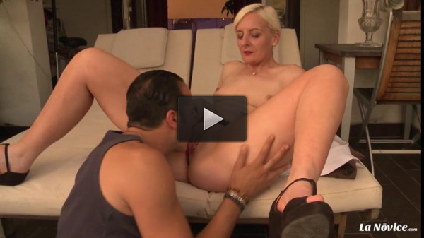 Blonde MILF newbie gets pussy and ass fucked in dirty French sex session