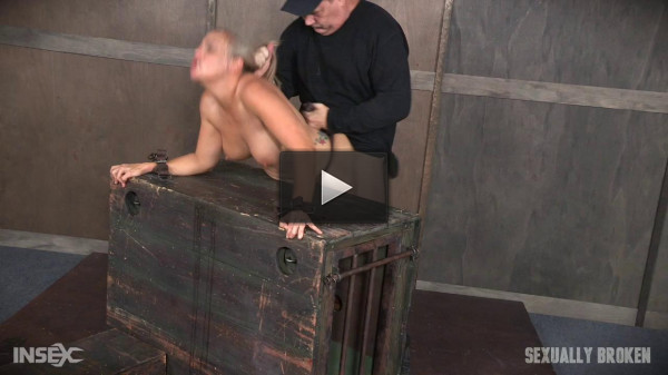 Angel Allwood Bent Over and Roughly Fucked In Belt Bondage!