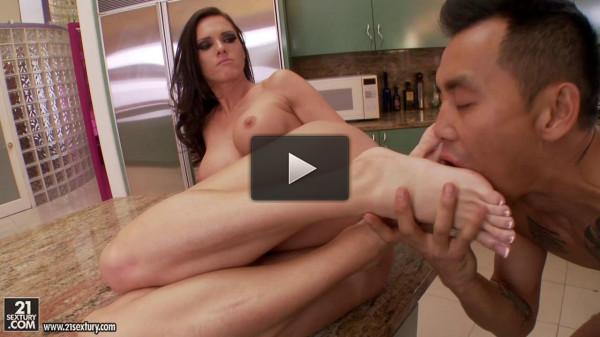 Stunningly beautiful girls masturbating guys feet