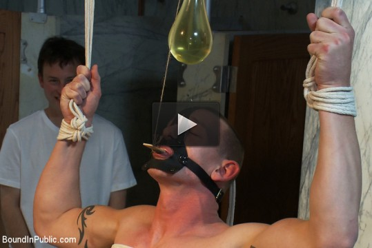 Phenix Saint, Kieron Ryan, Van Darkholme - The wrestler gets gang banged by a horny crowd in a public restroom for losing his match.