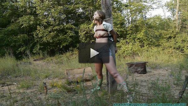 Punishing Outdoor Bondage for Rachel part 3