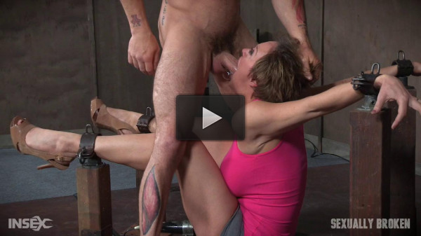 Dee williams shows off amazing cock sucking skills in bondage and is vibrated to multiple orgasms!