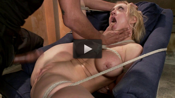 Blonde big tits ass fucked in tight bondage — Only Pain HD