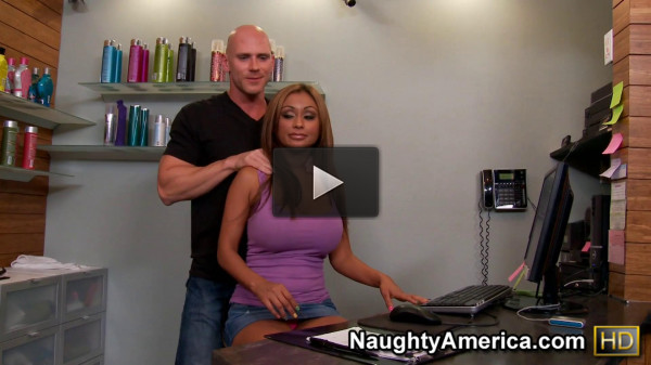 Bald Guy Cheats On His Wife With Tanned Busty Girl 1