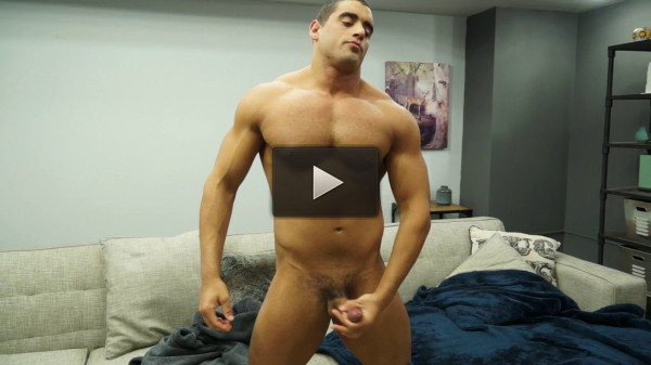 getting style hot inside (Body Builder Angelo Antonio showers shaves and jerks off).