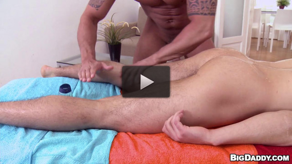 Big Dicks, Oil, Massage, Men and Anal Sex