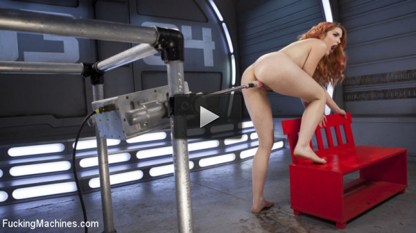 Spanish Red Head Machined Fucked Into Uncontrollable Orgasms!!