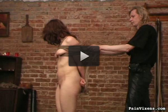 Painvixens — 31 Oct 2008 - Brunette Captive Torment