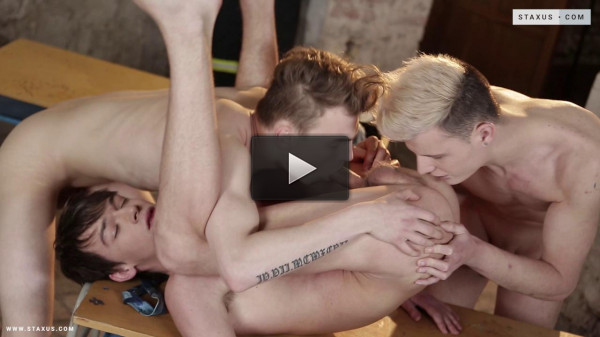 Life-Saving Drill Results In A Fiery, Spunk-Drenched Threeway!