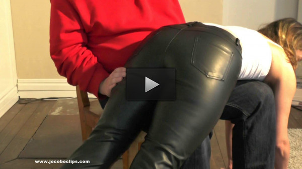 Leather Pants Spanking