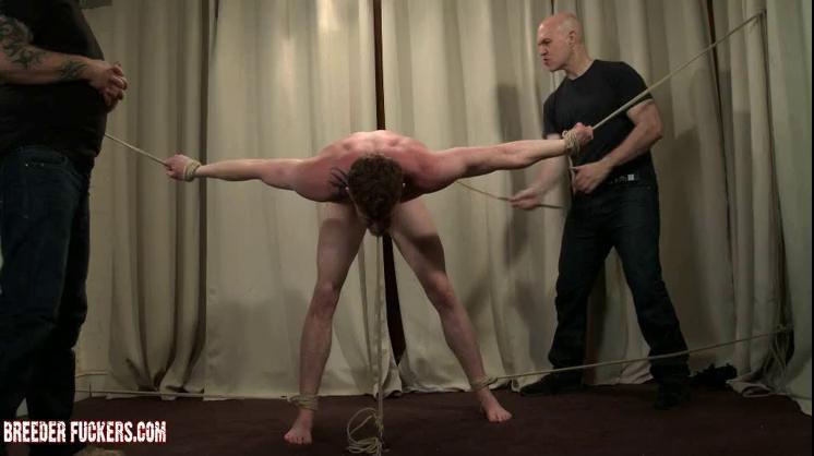 Gay BDSM Mark - Tied, verbal humiliation, flogged