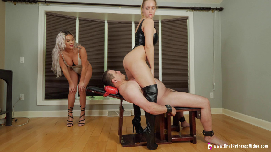 Femdom and Strapon Goddess Becky & Princess Natalya - Smother Their Slave