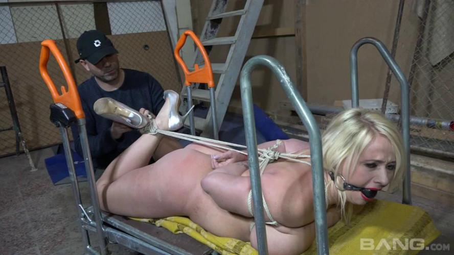 BDSM Brutally ball gagged scene. 1