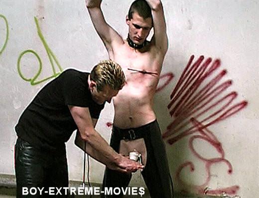 Gay BDSM Cute Lad Raw CBT Flogging Pain