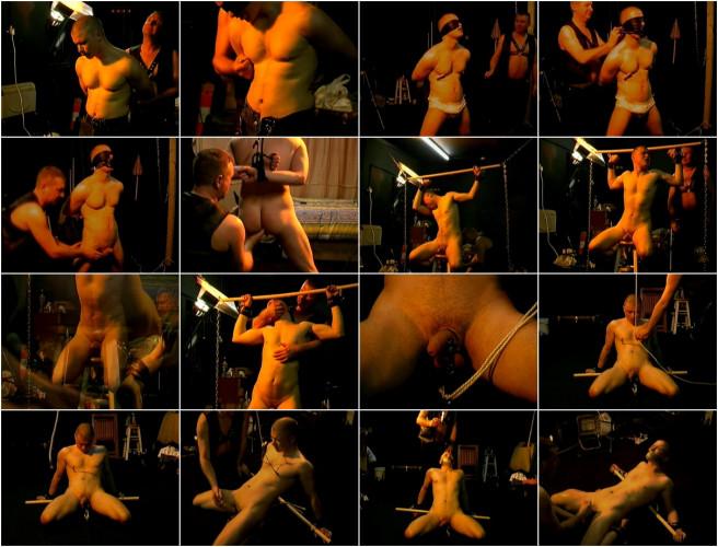 Gay BDSM Virgin Pain 3 - Storeroom Torture Trap
