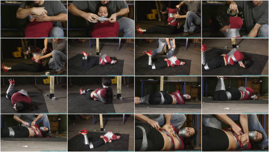 BDSM HD Bdsm Sex Videos Tape Breast Bondage, and a Tight Hogtaping For Summer! Part 1