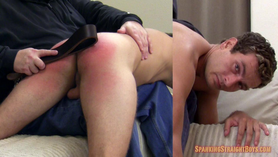 Gay BDSM Chad Belted and Paddled