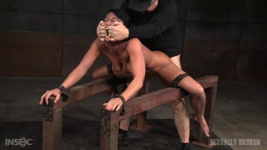 BDSM Flexible London River bound & split with massive orgasms