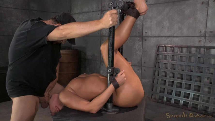BDSM Carter Cruise restrained in device bondage