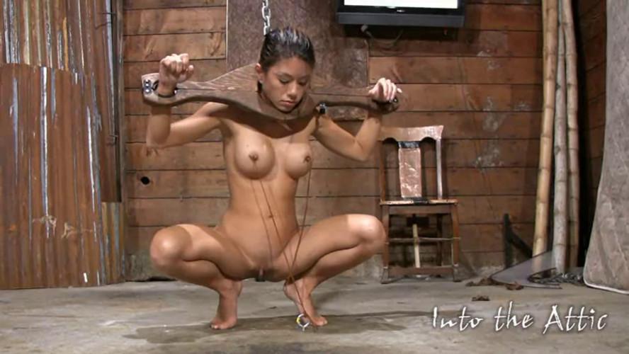 BDSM Super bondage, strappado and domination for horny model Full HD1080p