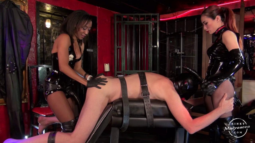 Femdom and Strapon Governess Painless & Goddess Maya Liyer - The Strap-on Slut of 2 Ladies