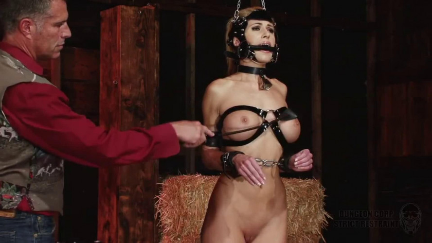 BDSM Super bondage, domination and spanking for sexy naked blonde Full HD 1080p