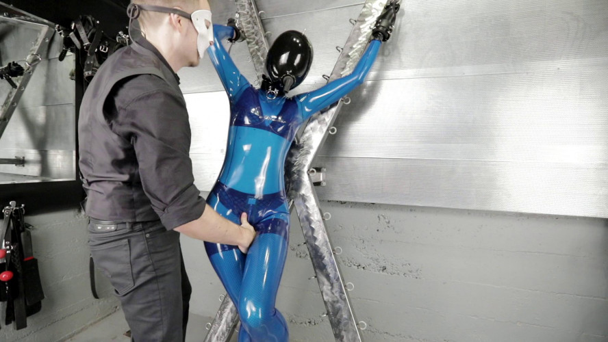 BDSM Latex Sorta blue part one