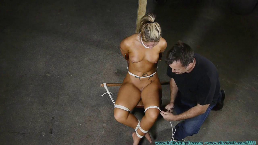 BDSM Punishing Nude Chair Tie for Adara - Part 1