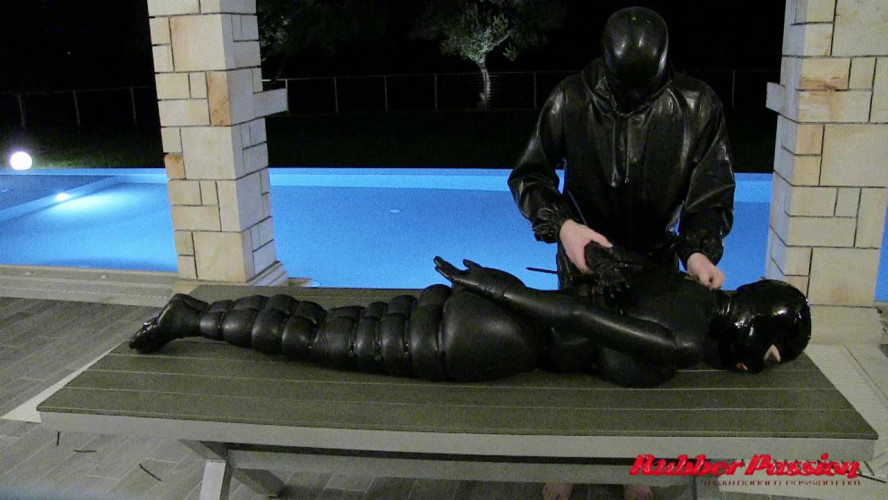 BDSM Latex Cable Tied Doll