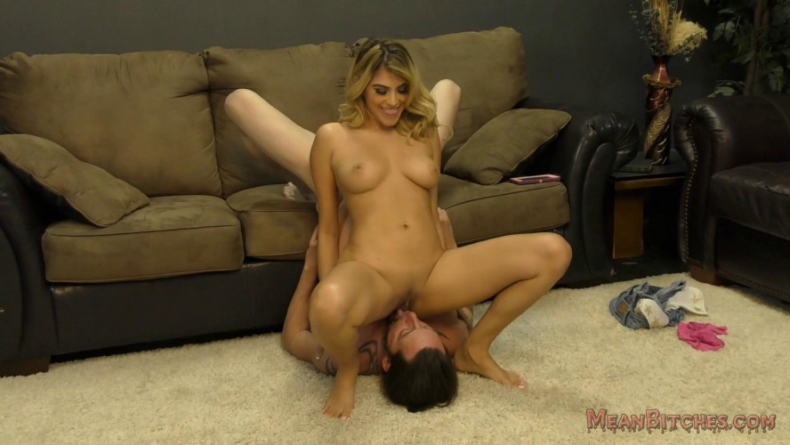 Femdom and Strapon Facesitting & Foot Worship With Cute Stephanie West