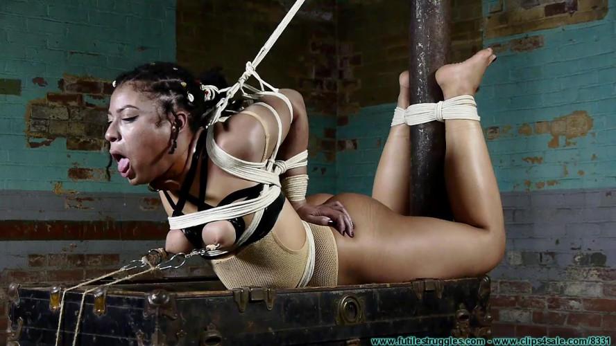 BDSM A Mesh Leotard Post Hogtie for Purple Jade - Part 3