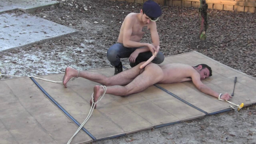 Gay BDSM Tied Down Part 2