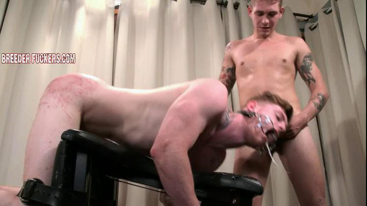 Gay BDSM Mark - Strapped down, arse thrashed, caned