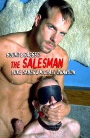 Gay BDSM Bound and Gagged - The Salesman