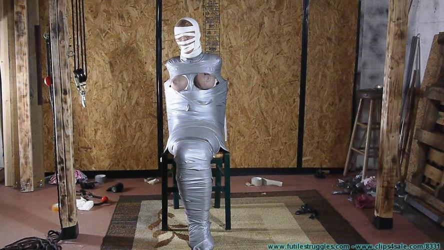 BDSM Courtney Mummified Gag Doll pt.3