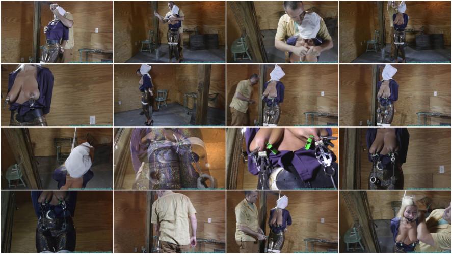 BDSM Miss Glitter Pants in a Legs Spread Hogtie vol. 1