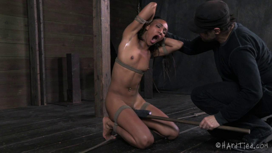 BDSM HardTied Nikki Darling Strappado Stress
