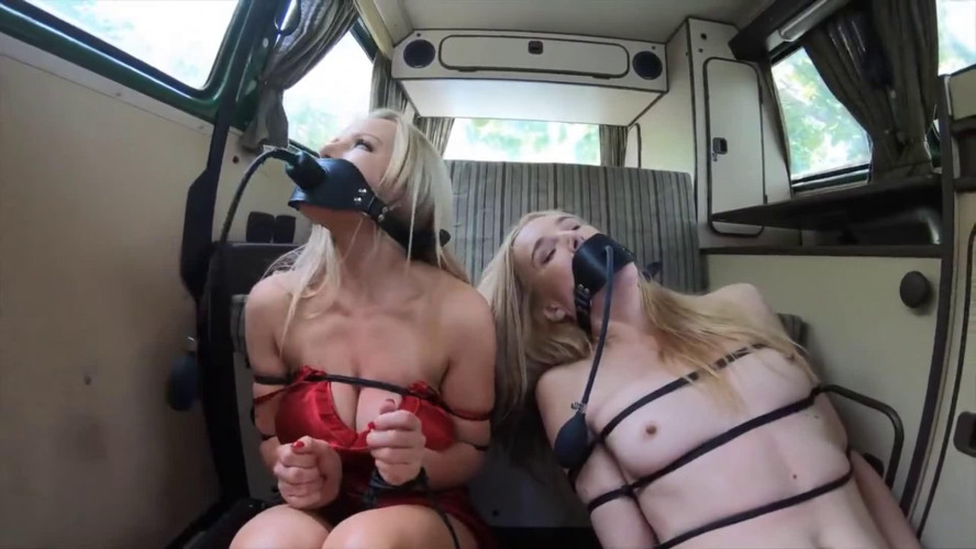 BDSM Bondage, domination and hogtie for two horny blondes part 2 Full HD 1080p