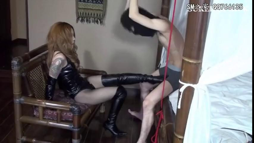 Femdom and Strapon Juns Ball busting