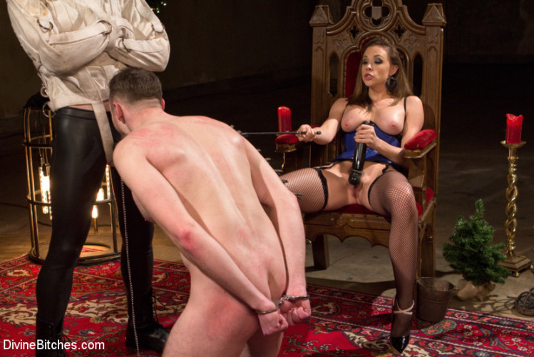 Femdom and Strapon A Merry Coerced Cock-Sucking Christmas
