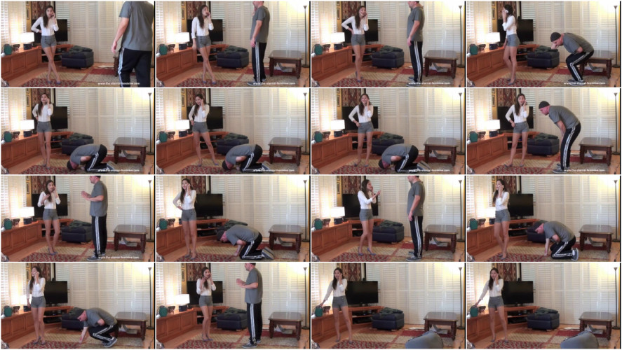 Femdom and Strapon Annoying Roommate