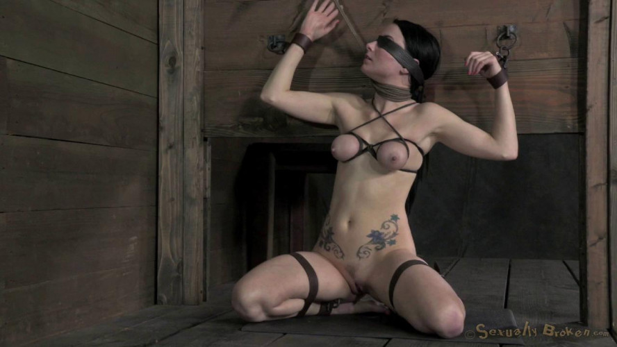 BDSM SexuallyBroken Veruca James shackled and chained, facesex