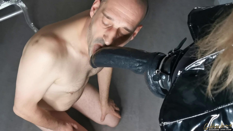Femdom and Strapon Ass fuck with huge strap-on
