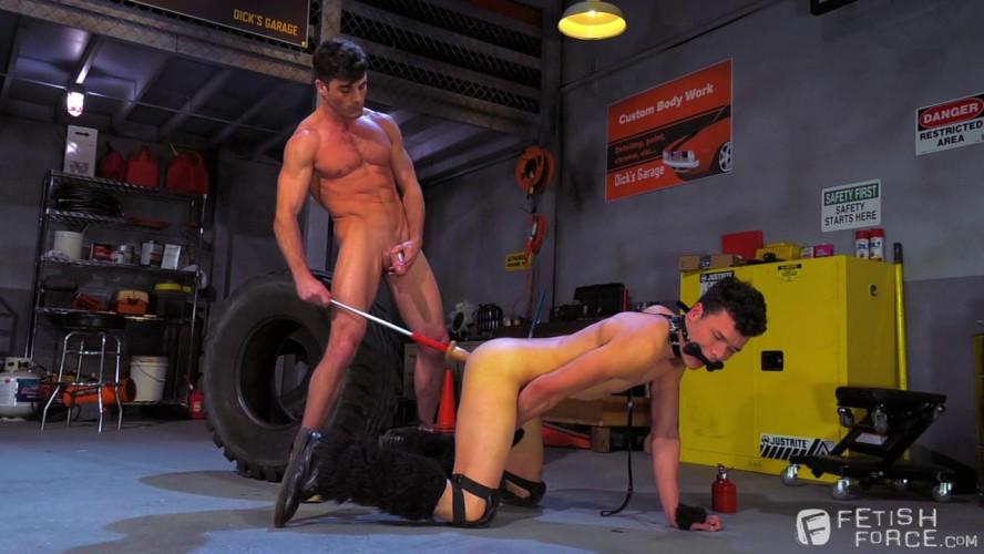 Gay BDSM  - Lance Hart & Micky Mackenzie (Bondage Garage)