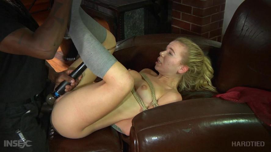 BDSM Outdoor bondage & domination for skinny slave